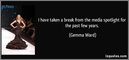 Gemma Ward's quote