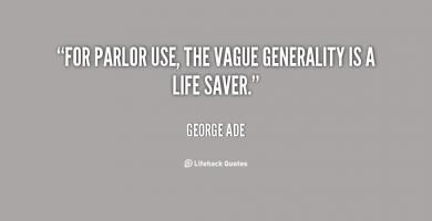 Generality quote #1