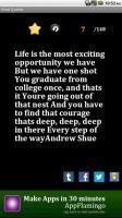 Graduating quote #1
