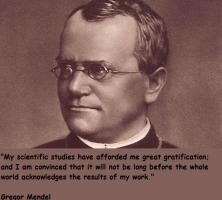 Gregor Mendel's quote
