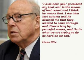 Hans Blix's quote