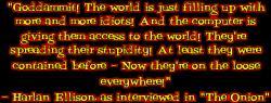 Harlan Ellison's quote