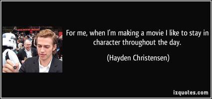 Hayden Christensen's quote