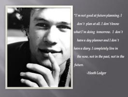 Heath Ledger's quote