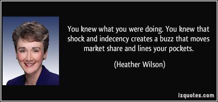 Heather Wilson's quote