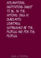 Henri La Fontaine's quote #1