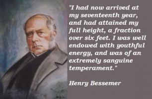 Henry Bessemer's quote