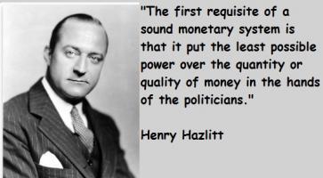 Henry Hazlitt's quote