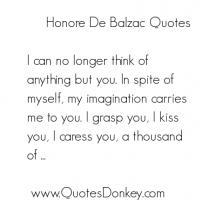 Honore de Balzac's quote