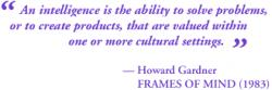 Howard Gardner's quote
