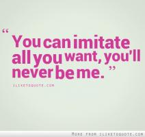 Imitating quote #1