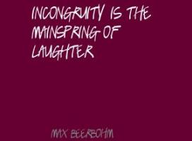 Incongruity quote #2