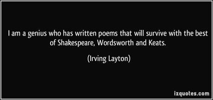 Irving Layton's quote #4