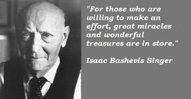 Isaac Bashevis Singer's quote