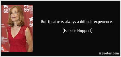 Isabelle Huppert's quote