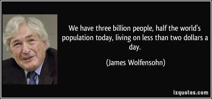 James Wolfensohn's quote