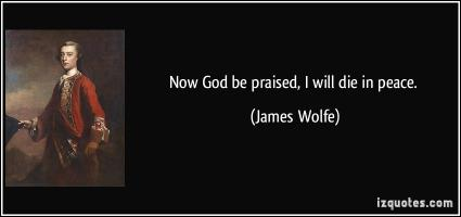 James Wolfe's quote