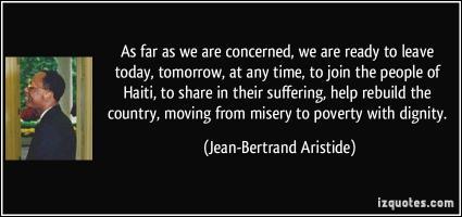 Jean-Bertrand Aristide's quote