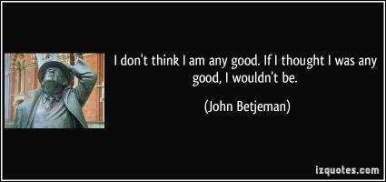 John Betjeman's quote