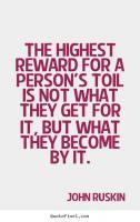 John Ruskin's quote