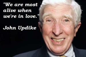John Updike's quote