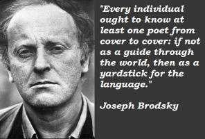 Joseph Brodsky's quote