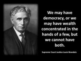Justice Brandeis's quote