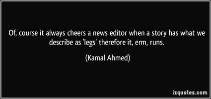 Kamal Ahmed's quote #1