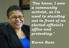 Karen Bass's quote