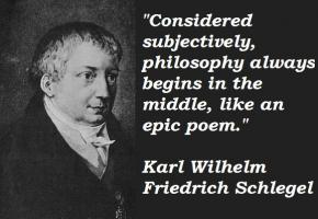 Karl Wilhelm Friedrich Schlegel's quote