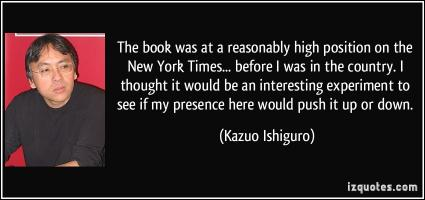 Kazuo Ishiguro's quote