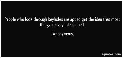 Keyhole quote #1