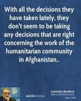 Lakhdar Brahimi's quote