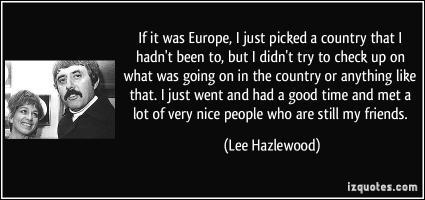 Lee Hazlewood's quote