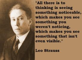 Leo Strauss's quote