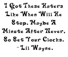 Lil Wayne's quote