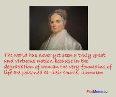 Lucretia Mott's quote