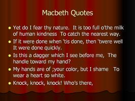 Macbeth quote #1