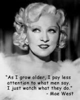 Mae West's quote
