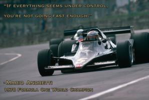 Mario Andretti's quote