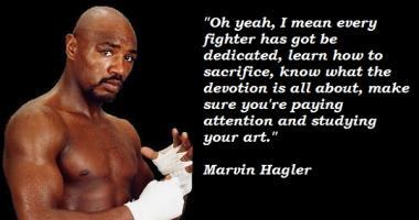 Marvin Hagler's quote #5