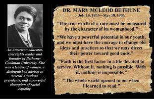 Mary McLeod Bethune's quote