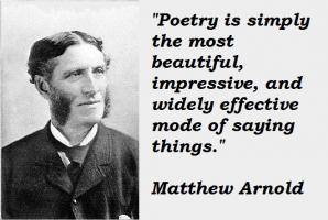 Matthew Arnold's quote
