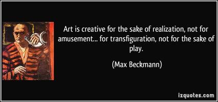 Max Beckmann's quote
