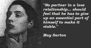 May Sarton's quote