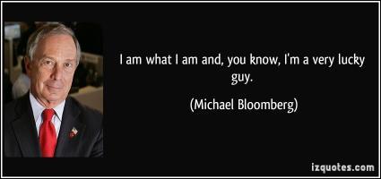 Michael Bloomberg's quote
