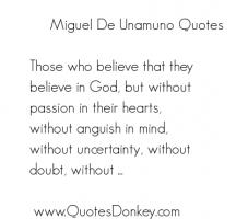 Miguel de Unamuno's quote