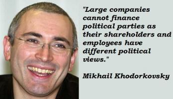 Mikhail Khodorkovsky's quote