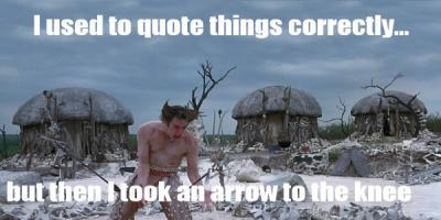 Misquoted quote #2