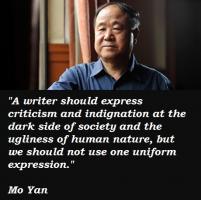 Mo Yan's quote